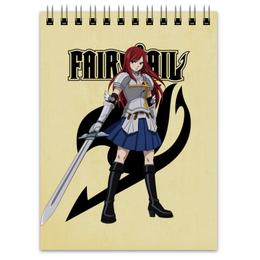 "Блокнот ""Эрза Скарлет. Fairy Tail"" - аниме, манга, fairy tail, хвост феи, эрза скарлет"