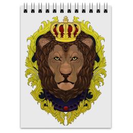 "Блокнот ""-Lion-"" - царь, king, лев, lion, the king"
