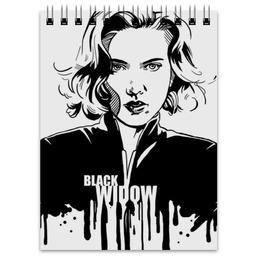 "Блокнот ""Черная вдова"" - комиксы, мстители, avengers, марвел, black widow"