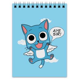 """Блокнот """"Хэппи. Fairy Tail"""" - аниме, манга, fairy tail, хвост феи, хэппи"""