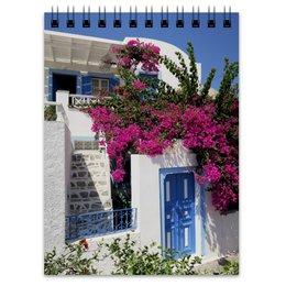 """Блокнот """"Блокнот для записей """"Греция. Остров Санторини"""""""" - цветы, путешествия, travel, греция, санторини"""