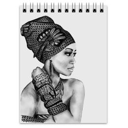 """Блокнот """"Портрет девушки карандашом"""" - рисунок карандашом, девушка в браслетах, графичные аксессуары"""