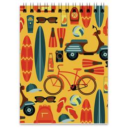 """Блокнот """"Летний"""" - отдых, рисунок, спортивный, велосипед, летний"""