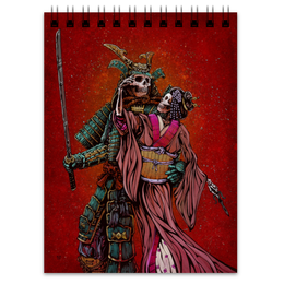"Блокнот ""Dead Samurai"" - самурай, япония, japan, кимоно"