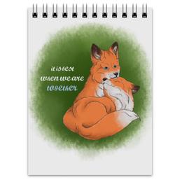"""Блокнот """"happy together"""" - любовь, love, fox, лисы, пары"""