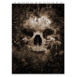 """Блокнот """"Смерть"""" - череп, страх, смерть, ужасы, металл"""