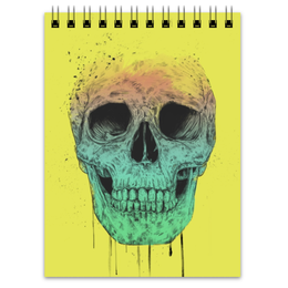 """Блокнот """"Череп"""" - skull, череп, поп арт, pop art"""