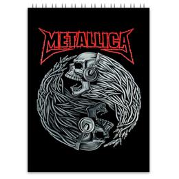 "Блокнот ""Metallica"" - heavy metal, metallica, металлика, хэви метал, thrash metal"