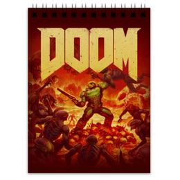 """Блокнот """"Doom """" - игры, doom, дум, геймерские, для геймеров"""