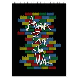 "Блокнот ""Another Brick in the Wall"" - арт, прикольные, пинк флойд, pink floyd, лего"