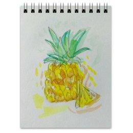 """Блокнот """"Ананас"""" - лето, ананас, вкусно, фрукт, сочный"""
