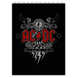 "Блокнот ""AC/DC. Black Ice"" - рок, ac dc, группы, acdc, black ice"