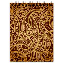 """Блокнот """"Абстрактный"""" - узор, стиль, орнамент, абстрактный, рсиунок"""