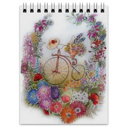 """Блокнот """"Летняя прогулка"""" - лето, цветы, позитив, акварель"""