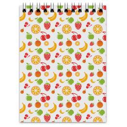 """Блокнот """"Фруктовый"""" - апельсин, клубника, вишня, яблоко, банан"""
