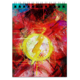 "Блокнот ""Флэш (Flash)"" - комиксы, dc comics, флэш"