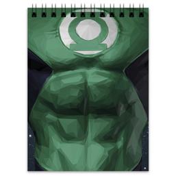 """Блокнот """"Зеленый фонарь"""" - комиксы, dc, зеленый фонарь, green lantern, dc comics"""