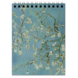 "Блокнот ""Цветы миндаля (Ван Гог)"" - картина, ван гог"