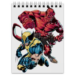 "Блокнот ""Росомаха и Хеллбой"" - комиксы, марвел, wolverine, hellboy, dark horse comics"