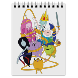 "Блокнот ""Adventure time"" - time, мульт, время, adventure, приключений"