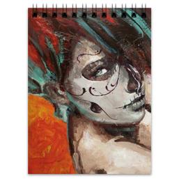 "Блокнот ""Skull girl"" - skull, девушка, смерть, санта муерте, santa muerte"