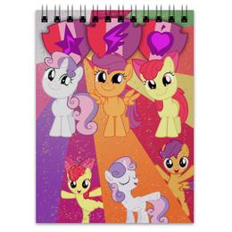 "Блокнот ""Cutie Mark Crusaders Color Line"" - magic, applebloom, sweetie belle, scootaloo, friendship"