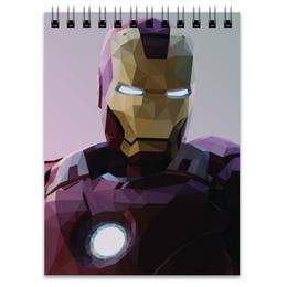 """Блокнот """"Железный человек"""" - комиксы, марвел, iron man, tony stark, тони старк"""