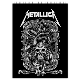 "Блокнот ""Metallica"" - heavy metal, metallica, металлика, хэви метал, thrash metal"