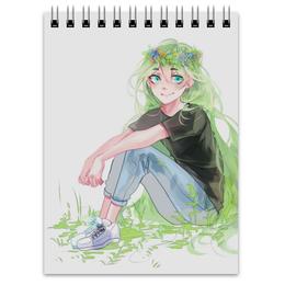 """Блокнот """"Весеннее настроение """" - арт, девушка, рисунок, весна"""