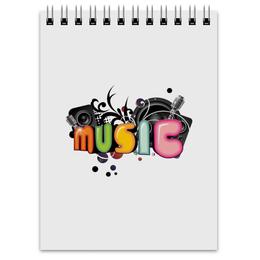 """Блокнот """"Music"""" - music, музыка"""