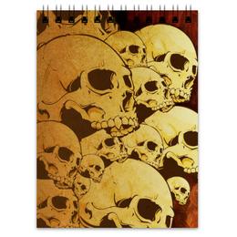 "Блокнот ""Черепа"" - skull, череп, sticker, наклейка"