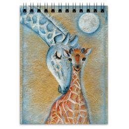 """Блокнот """"Бирюзовая сказка"""" - луна, сказка, детское, жирафы, бирюзовое"""