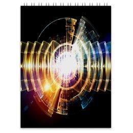 """Блокнот """"Абстракция"""" - узор, огонь, круг, абстракция, молния"""