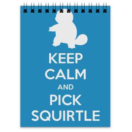 """Блокнот """"Сквиртл"""" - нинтендо, nintendo, squirtle, pokemon go, покемон го"""