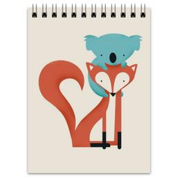 """Блокнот """"Коала и лис"""" - мишка, рисунок, звери, лис, коала"""