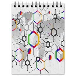 "Блокнот ""Формула"" - узор, текстура, формула, химия, молекулы"