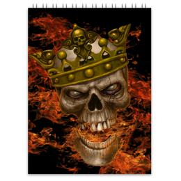 """Блокнот """"King Skull"""" - skull, череп, король"""