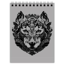 "Блокнот ""Волк Стилизация 2"" - волк, wolf, волчица"