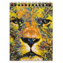 """Блокнот """" Лев """" - кот, животные, лев, lion, царь зверей"""