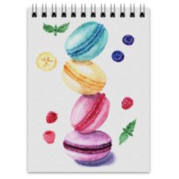 "Блокнот ""Макаруны"" - арт, рисунок, еда"