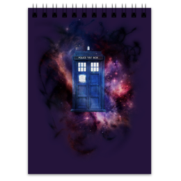 "Блокнот ""Tardis in space"" - космос, доктор кто, тардис, полицейская будка, сериал доктор кто"