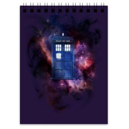 """Блокнот """"Tardis in space"""" - космос, доктор кто, тардис, полицейская будка, сериал доктор кто"""