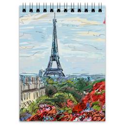 """Блокнот """"Эйфелева башня"""" - графика, франция, париж, эйфелева башня"""