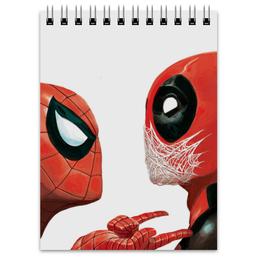 "Блокнот ""Дэдпул (Deadpool)"" - комиксы, spider-man, марвел, человек-паук, дэдпул"