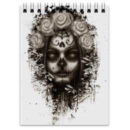 """Блокнот """"Santa Muerte """" - череп, девушка, санта муерте"""