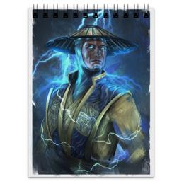 "Блокнот ""Mortal Kombat X"" - mortal kombat, mk, рейден, raiden"