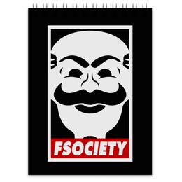"""Блокнот """"Мистер Робот. Fsociety"""" - сериалы, хакер, мистер робот, fsociety, mr robot"""