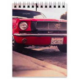 """Блокнот """"Форд мустанг"""" - форд, ford, mustang, мустан, muscle"""