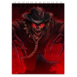 """Блокнот """"Бэтмен"""" - комиксы, batman, scarecrow, dc comics, пугало"""