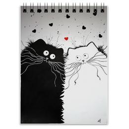 """Блокнот """"Кот и Кошка"""" - любовь, юмор, кот и кошка"""